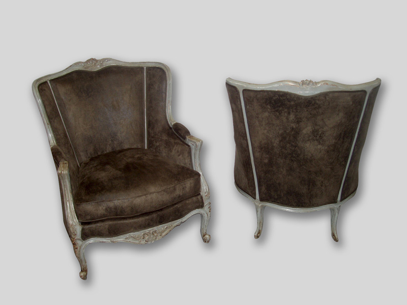 Louis The 15th Bergeres France Circa 1900 Reupholstered 5800 For Pair